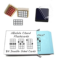 Beginner Ukulele Gift Pack (Chord Flashcards and Ukulele Chord Stamp and Pad)