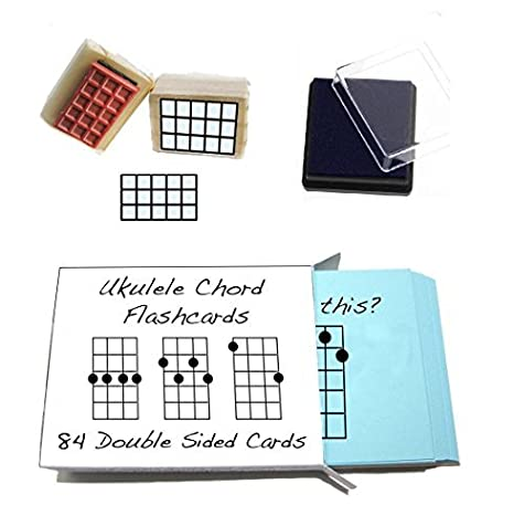 Amazon Beginner Ukulele Gift Pack Chord Flashcards And Ukulele