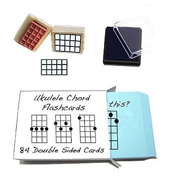 Beginner Ukulele Gift Pack Chord Flashcards And Ukulele Chord Stamp