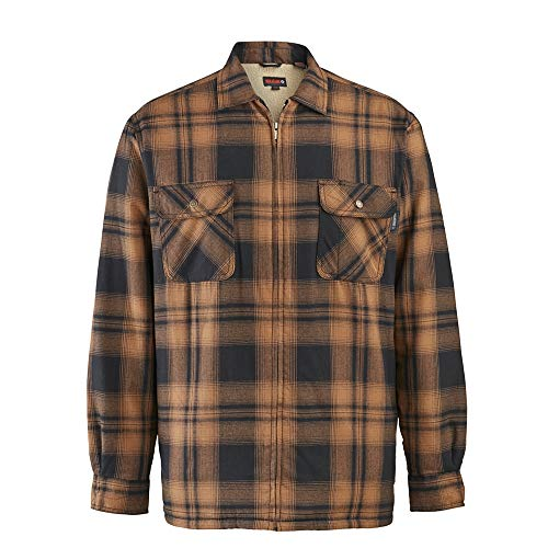 - Wolverine Men's Marshall Shirt Jac, Russet Plaid, 3X-Large