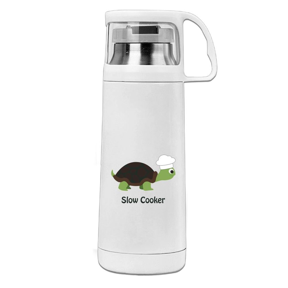 Mkajkkok Chef Turtle Slow Cooker Thermos Water Bottle Stainless Steel Insulated Vacuum Cups for Ki