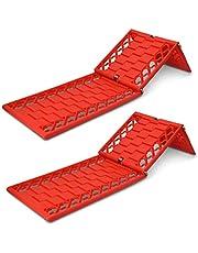 Navaris 2 Planchas de desatasco Antideslizantes - Kit de 2X rampa para liberar neumáticos de Coche Todoterreno - 4x4 en Nieve Arena Barro