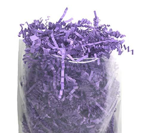 (Crinkle Cut Packing Paper Filler Shredded Gift Box Basket Filler (Lavender, 1 lb.))