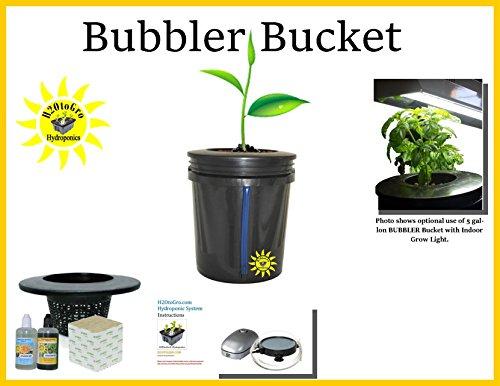 Hydroponic BUBBLER DWC Bucket Complete Kit H2OtoGro (Round Air Medium Stone)