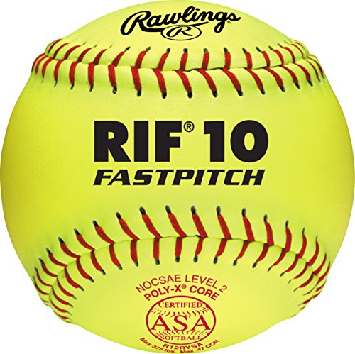 Rawlings ASA Rif Fastpitch Softball, 12 Count, R12RYSA by Rawlings