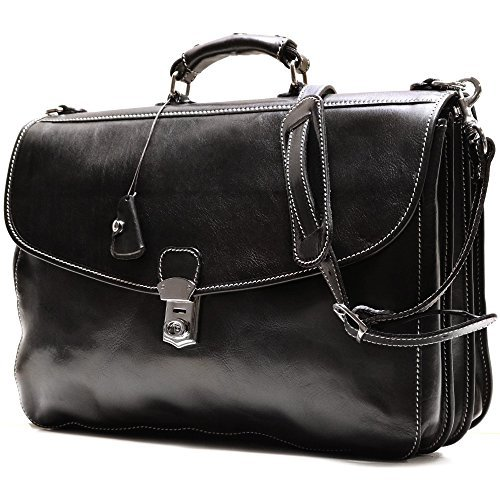 Floto Italian Leather Messenger Bag Briefcase - 7