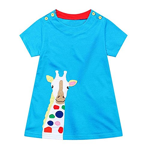 Huaqiang fashion Girls Summer Dresses NEW Brand Kids Applique Dress Princess Costume Vestido Infantil Children Tunic Dress for Girls Clothes 22 18M - Costumes Rental Seattle