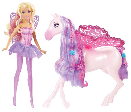 Mattel Barbie The Princess and The Popstar Fairy Doll and...