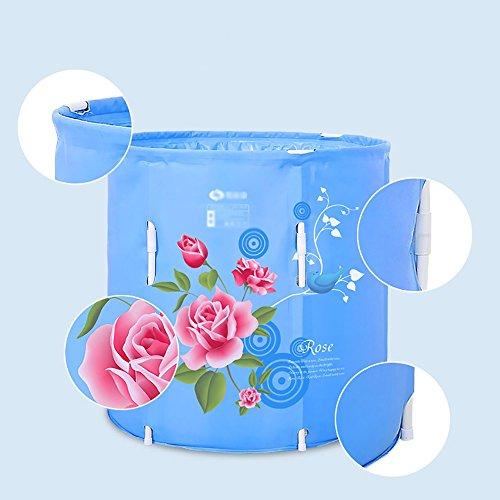 Bathtub PHTW Bathtub PHTW HTZ HTZ HTZ Baignoire Pliante Adulte en Nylon Courtepointes Seau De Bain pour Enfants (Bleu, 70 * 70cm) + 27c1a4