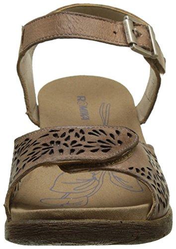Romika 20305 96, Sandalias de Cuñas Mujer Beige (Creme)