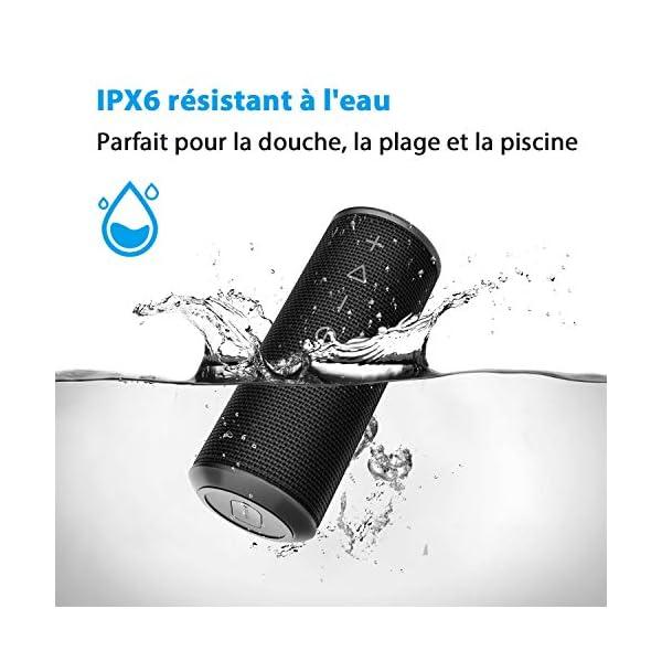 Zamkol Enceinte Bluetooth Portable, Waterproof Haut-Parleur Bluetooth Enceinte d'extérieur sans Fil 24W, 360° HD Bass Pilote Double, Bluetooth 4.2, étanche IPX6, Mains Libres et Technologie TWS 2