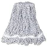 Rubbermaid Commercial - Web Foot Finish Mop White Med Cotton/Synthetic 1''. White Headband 6/Carton ''Product Category: Breakroom And Janitorial/Cleaning Tools & Supplies''