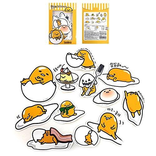 Sanrio Gudetama Lazy Egg Big Jumbo Deco Stickers (12pcs 1 Pack) (VER.3)