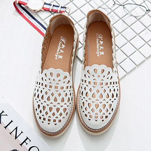 XY&GKDonna Sandali Baotou All-Match cava studente coreano scarpe scarpe traspiranti Testa, 38, bianco,con il migliore servizio 38white