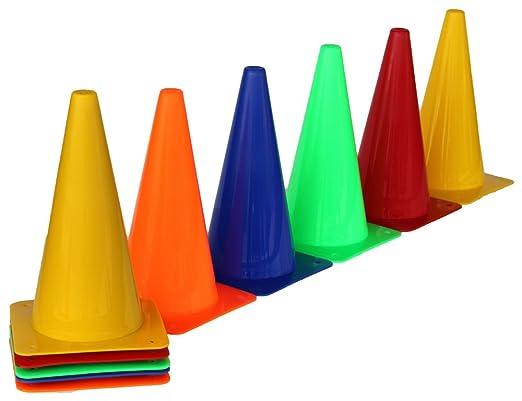 3 opinioni per Set di 10 coni marcatori, altezza 30 cm, 5 colori