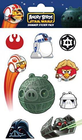 Angry Birds 1art1 Star Wars Falcon, Shimmer Sticker Pack Set De Pegatinas (15 x 10cm): Amazon.es: Hogar