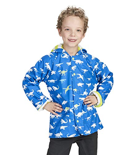 - Hatley Boys' Big Printed Raincoats, Color Changing Dinosaur Menagerie 12