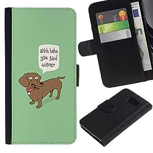 All Phone Most Case / Oferta Especial Cáscara Funda de cuero Monedero Cubierta de proteccion Caso / Wallet Case for Sony Xperia Z3 Compact // Wiener Dog Funny Quote Dog Dachshund Art