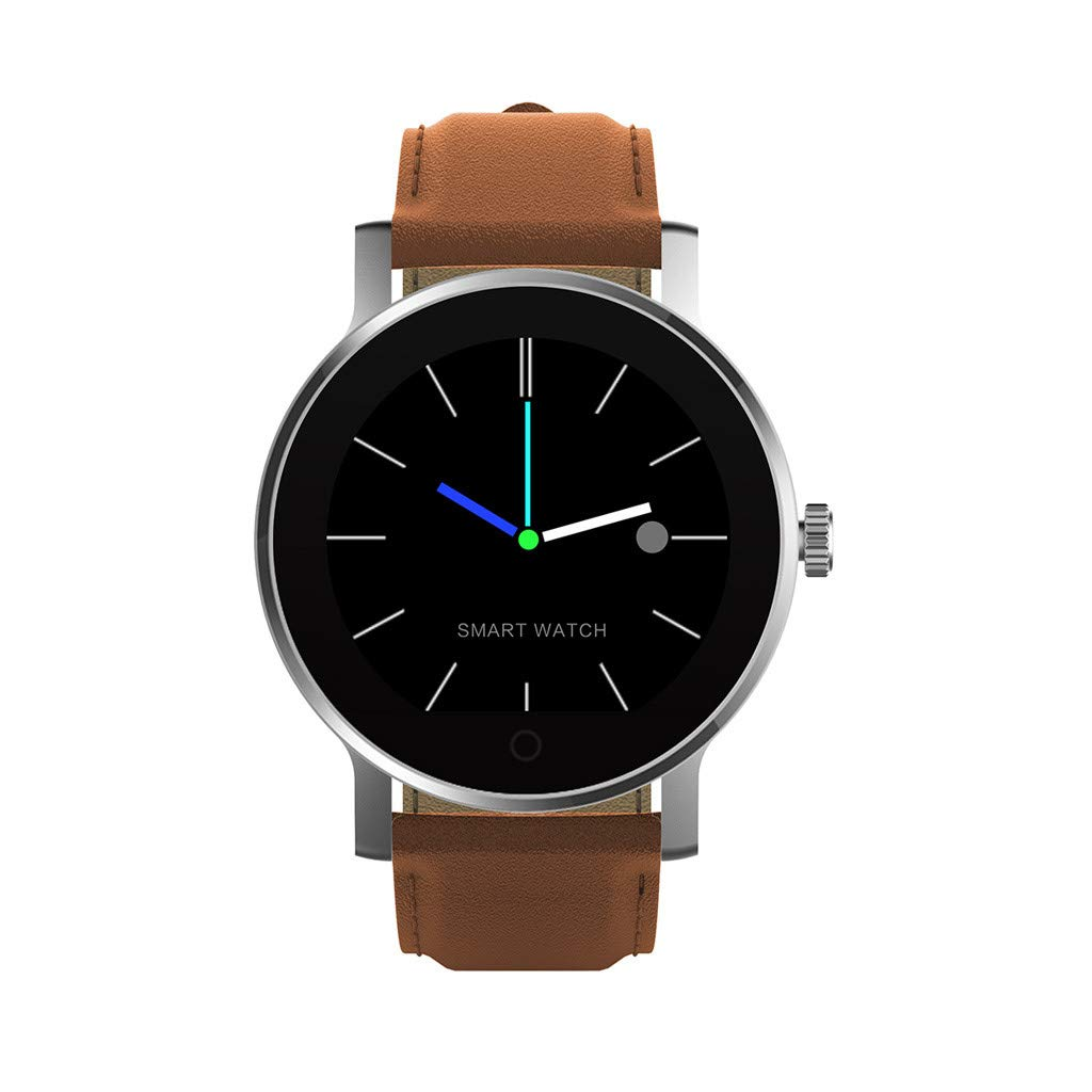 For iOS Android, Waterproof Sport Smart Watch Fitness Blood Pressure Heart Rate Monitor Remote Photo Smart Bracelet (C)