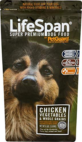 Petguard Dog Cat Food - PetGuard Life Span Chicken Flavor Dry Dog Food, 8-Pounds (Pack of 1)