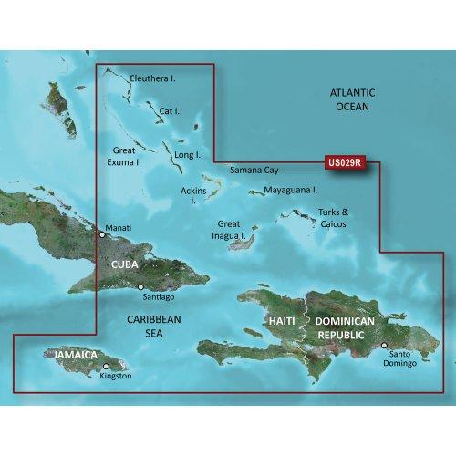 - Garmin BlueChart g2 Vision Southern Bahamas Saltwater Map microSD Card