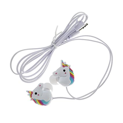 Auriculares para niño, diseño coqueto de unicornio, 1,2 m x 3,5