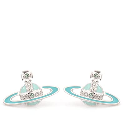 cb70affca Vivienne Westwood Small Neo Bas Relief Earrings Pale Blue/Rhodium:  Amazon.co.uk: Jewellery