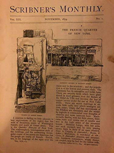 1879 French Quarter of New York City Greene Street Bleecker Street illustrated