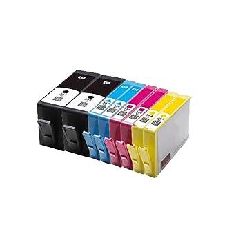 8 cartuchos de tinta de repuesto 364XL para HP Photosmart 5510 ...