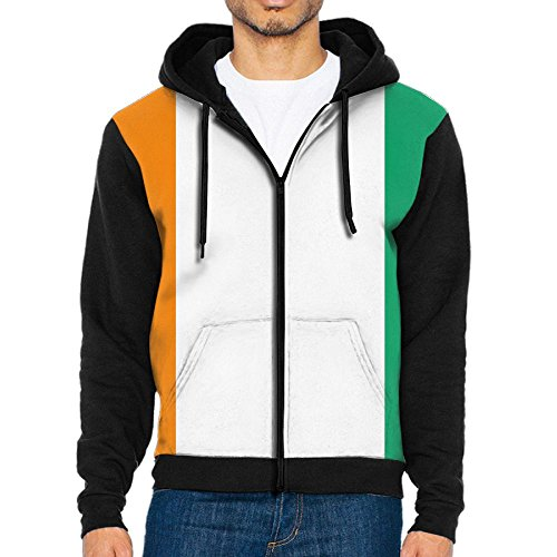 (Wen's Flag of Ivory Coast Zipper Hoodie Sweatshirt Outdoor Jackets Casual Outwear )
