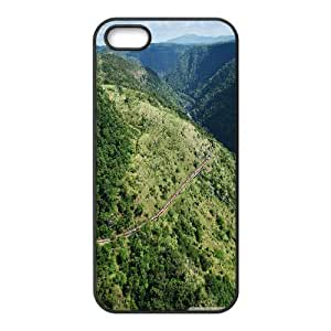 Railway & Railroad Series, IPhone 5,5S Cases, Rail Road in the Mountains Cases for IPhone 5,5S [Black]