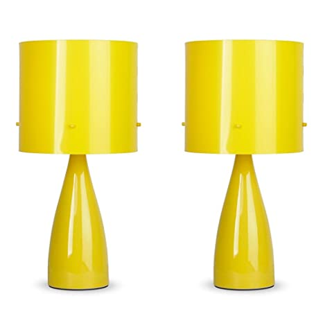 Pair of   Modern Gloss Yellow Ceramic Bedside Table Lamps  Amazon co uk   Lighting. Pair of   Modern Gloss Yellow Ceramic Bedside Table Lamps  Amazon