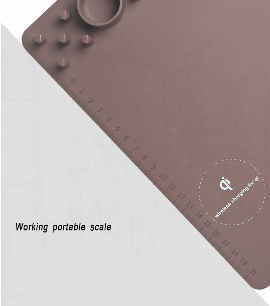 2 in 1 Qi Wireless Fast Charging Mouse Mat for iPhone X//XS MAX//X//8//8 Plus Samsung Galaxy S10//S9//S7 Note 10//9//8 Wireless Charger Mouse Pad