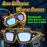 Gotian Solar Powered Auto Darkening Welding Mask Helmet Eyes Goggle Welder Glasses Kit ~ Strong Abrasion Resistance ~ for Electrical Welding, Cutting Category