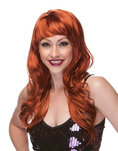 Enimay Women's Burlesque Halloween Costume Party Flame Retardant Wig Auburn (Halloween Costumes With Colored Wigs)