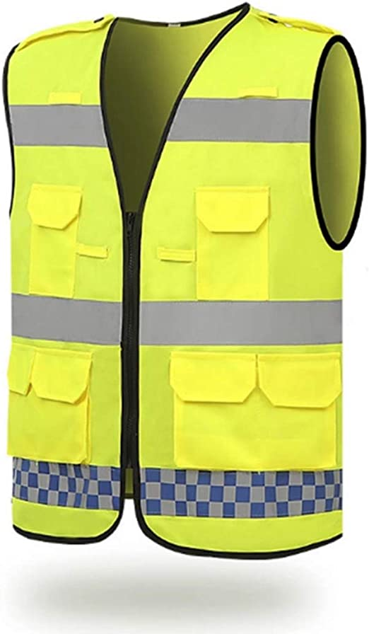 YUMUYMEY Chaleco reflectante chaleco de seguridad cinturón ...