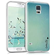 kwmobile Crystal Case Cover for Samsung Galaxy S5 / S5 Neo / S5 LTE+ / S5 Duos TPU silicone IMD design protective case - soft mobile cover Design Smile Heart