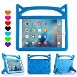 All-New iPad 9.7-inch 2018 2017 Case - iPad Pro 9.7 2016 Air 2 Air Case - SNOW Kids Light Weight Shock Proof Case with Handle&Stand(For iPad 9.7-inch 2018 2017 Pro 9.7 Air Air 2 - Sky Blue)