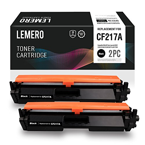 LEMERO Replacement for HP 17A CF217A Toner Cartridge With Chip - for HP Laserjet Pro M102w Laserjet Pro MFP M130fw M130nw M130fn (2 Pack)