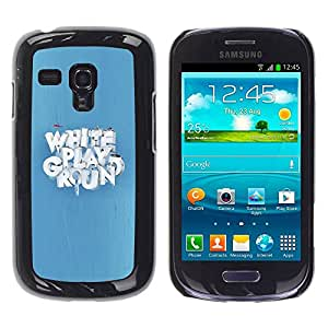 Smartphone Rígido Protección única Imagen Carcasa Funda Tapa Skin Case Para Samsung Galaxy S3 MINI NOT REGULAR! I8190 I8190N White Playground / STRONG