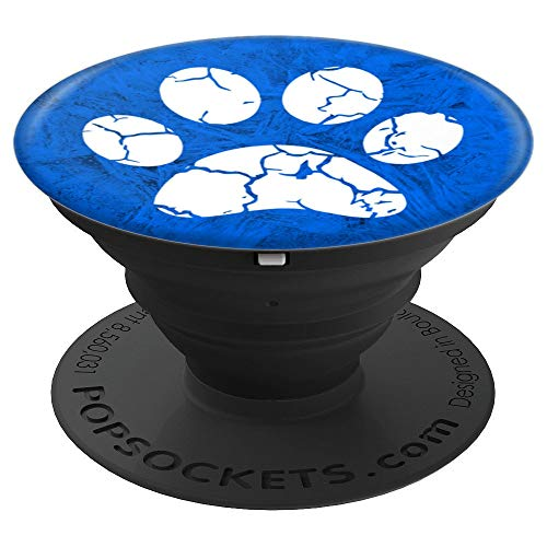 Cat Paw Blue White - PopSockets Grip and Stand for Phones and Tablets