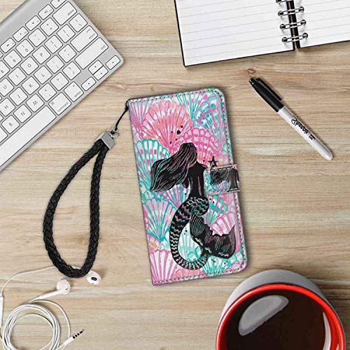 (Mermaids and Scallops Wallet Case Fit Samsung Galaxy Note 9 (2018) with Card Holder)