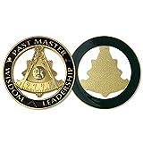 Indeep Past Master Masonic Car Emblem Black