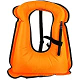 iRunzo Snorkel Vest - Inflatable Buoyancy Compensator for Adult Kids Diving Swimming
