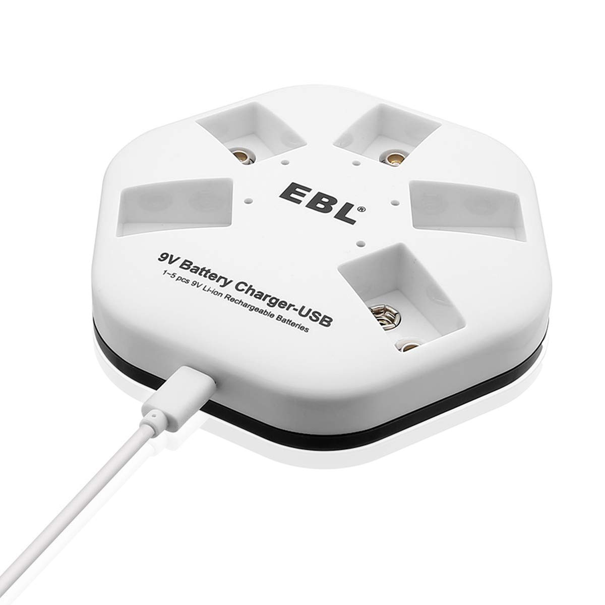 EBL 5 Bays USB Battery Charger for 9V 6F22 Lithium-ion: Amazon.co.uk ...