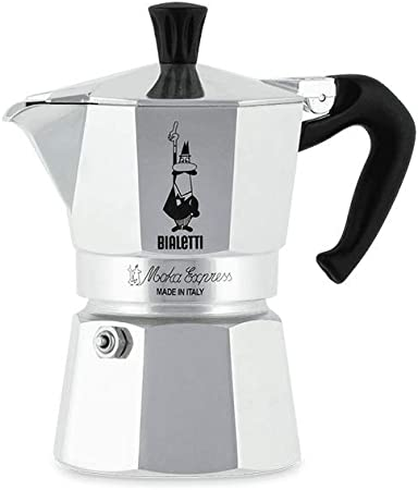 Bialetti Moka Express Cafetera Italiana Espresso, 2 Tazas, Aluminio, Plateado: Amazon.es: Hogar