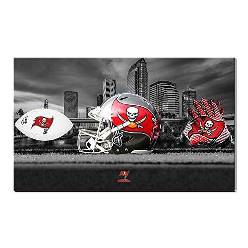 (Acrylic Super Bowl NFL Tampa Bay Buccaneers Football Logo Raymond James Stadium Sports Artist Landscape Poster Oil Painting Giclee Canvas Cotton Prints Picture Wall Art Acrylic Artwork Home Decor Gift)