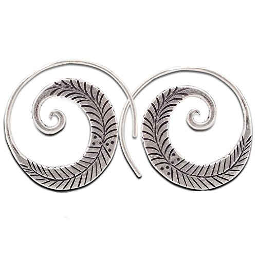 - Coil Karen Hill Tribe Design Earring Pure Silver