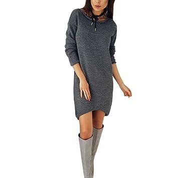 Vestido de otoño Invierno Mujer Amlaiworld Vestido de Punto de Invierno  Mujers Vestido de Fiesta Bodycon 04e31ce28e2a