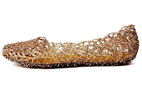 Jelly Gold Ballet Flats Nest Bird Women's Kunsto qn4t11